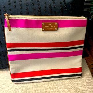 Kate Spade Striped clutch/pouch